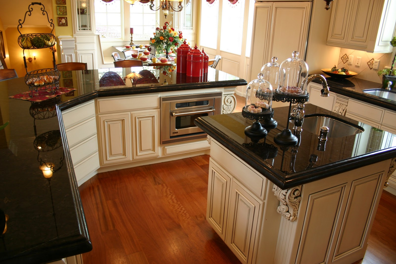 kitchen with dark cabinets absolute black granite price per square foot amp decorating 22205