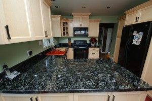 Volgue blue granite countertops